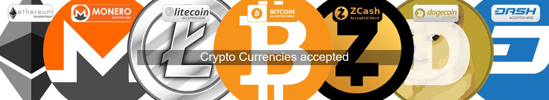 Crypto currencies accepted here